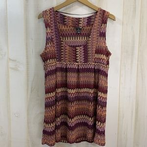 H&M Maroon Knit Tunic Top Size Large